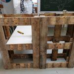 5. Hier nahmen wir Maße für die inneren Bodenplatten/Wände.